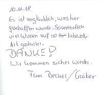 Potsdam, Kinder, Gästebuch