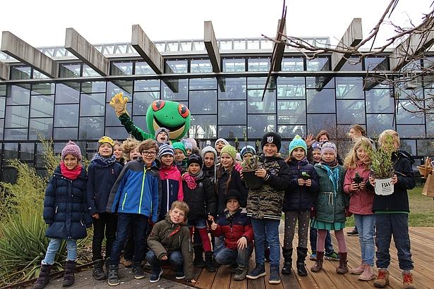 Schüler in der Biosphäre Potsdam
