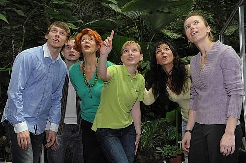 Reisegruppe in der Biosphäre Potsdam