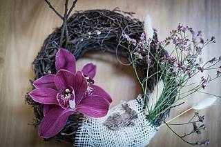 Basteln mit Orchideen in der Biosphäre Potsdam
