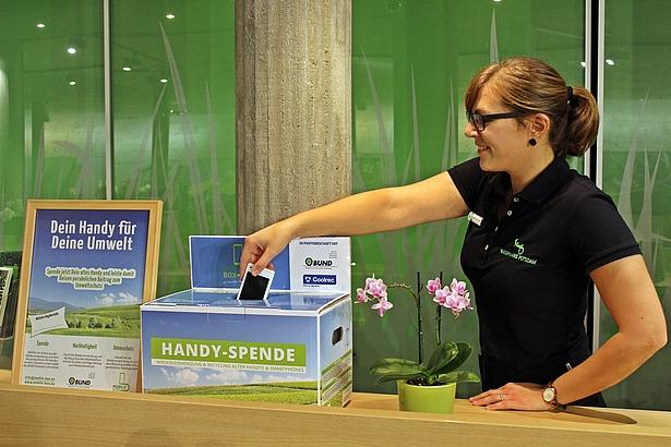 Handy spenden in der Biosphäre Potsdam